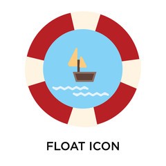 float icon on white background. Modern icons vector illustration. Trendy float icons