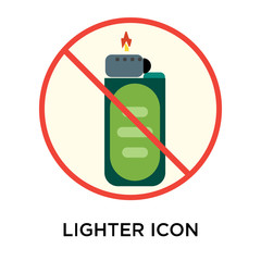 Lighter icon vector sign and symbol isolated on white background, Lighter logo concept