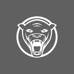 Panther logo mascot design illustration sport isolated logotype emblem eps 8