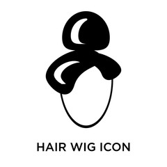 hair wig icon isolated on white background. Simple and editable hair wig icons. Modern icon vector illustration.