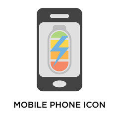 Mobile phone icon vector sign and symbol isolated on white background, Mobile phone logo concept