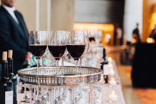 Wine Tray at a luxury event
