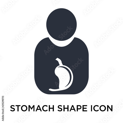 stomach shape icon vector sign and symbol isolated on white