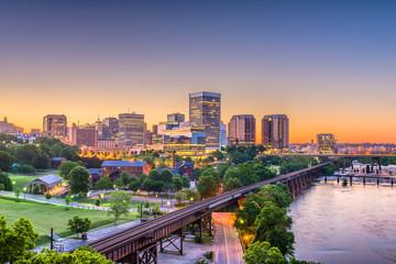 Fototapete - Richmond, Virginia, USA Skylinhe