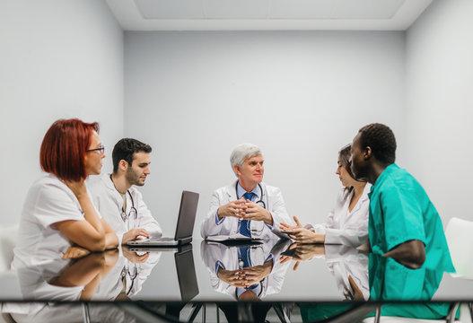 Medical team in meeting room
