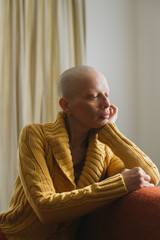 A beautiful young woman fighting cancer