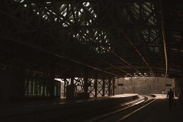 Platform of a railway station