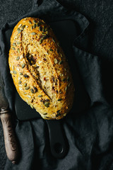 Pumpkin seed and cranberry bread load