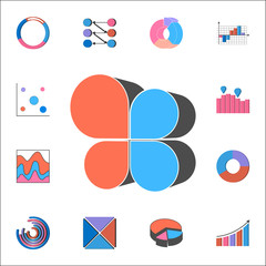 flap chart icon. Detailed set of Charts & Diagramms icons. Premium quality graphic design sign. One of the collection icons for websites, web design, mobile app