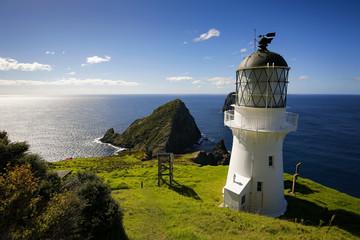 Historic lighthouse at Cape Brett, New Zealand