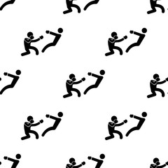 boxer knockdown icon. Element of Fight icons for mobile concept and web apps. Pattern repeat seamless boxer knockdown icon can be used for web and mobile apps