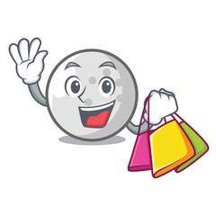 Shopping golf ball character cartoon