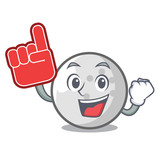 finger golf ball mascot cartoon stock image and royalty free vector