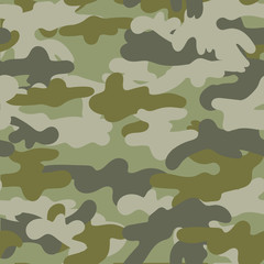 Vector Seamless Camouflage Pattern