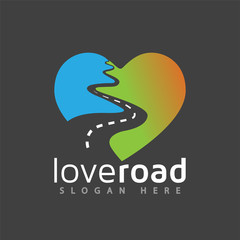 love road logo vector element. road logo template