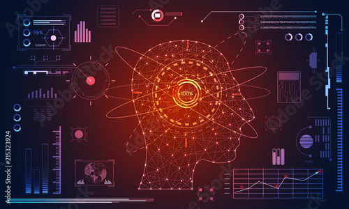 Abstract Health Medical Science Consist Head Human Digital Technology Concept Modern TechnologyTreatment