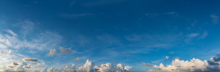 blue sky and white cloud .