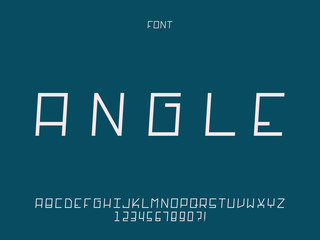 Angle font. Vector alphabet
