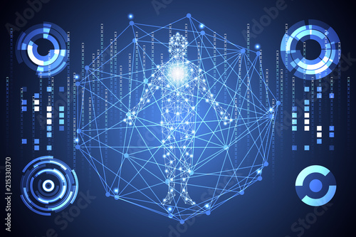Abstract Technology Ui Futuristic Concept Hud Interface Hologram Elements Of Digital Data Chart Communication
