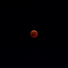 The Blood Moon during the Moon Eclipse on 27 july 2018 at 22:21 Fuze B. Taranto, South of Italy