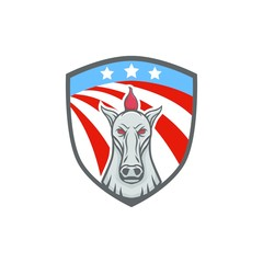 Horse vector mascot head design element sport illustration emblem isolated