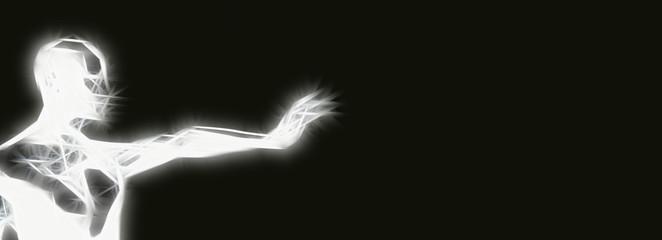Lichtmensch Fototapete
