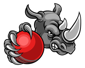Rhino Holding Cricket Ball