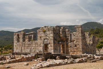 Ruins of the ancient town Kaunos, Turkey