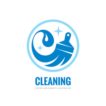 Cleaning service - vector business logo template concept illustration. Wash household sign. Graphic design element.