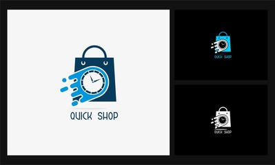 bag time icon quick shop logo