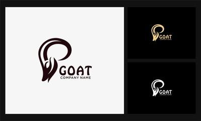 head antler goat logo
