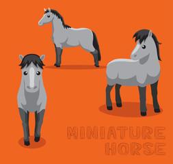 Horse Miniature Cartoon Vector Illustration