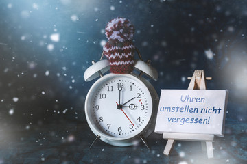 Umstellen der Uhren auf Winterzeit-Erinnerung