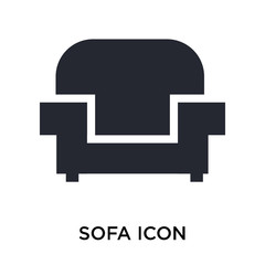 Sofa icon vector sign and symbol isolated on white background, Sofa logo concept