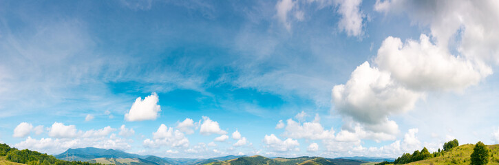 panorama of gorgeous cloudscape move to the right. lovely nature background useful for composite workflow