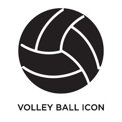 Volley ball icon vector sign and symbol isolated on white background, Volley ball logo concept