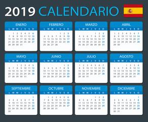 Calendar 2019 - Spanish Version