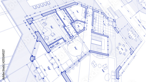Image of: Architecture Design Blueprint In Architecture Design Blueprint Plan Illustration Of Modern Residential Building Technology