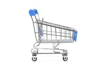 Blue handel shopping cart