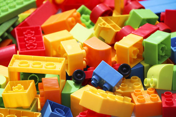 Colourful toy building blocks