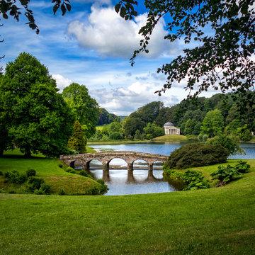 Stourhead Gardens, Bridge & Lake
