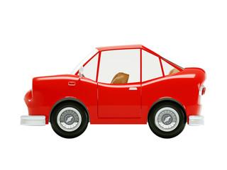 retro car 1970 cartoon side
