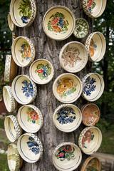 Traditional Romanian earthenware pottery in Buzau - Romania