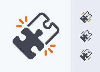Locked Puzzle Pieces - Pastel Imprint Icons