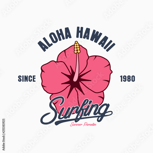 Aloha Hawaii typography graphics for t-shirt  Tee shirt