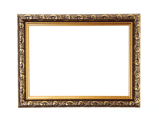 wood frame border design is patterned isolated on white background