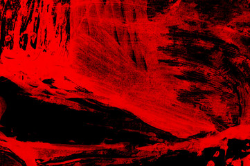 black and red hand painted brush grunge background texture Wall mural
