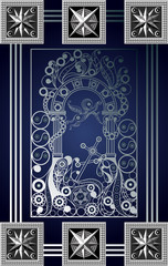 Graphical illustration of a Tarot card 9_2