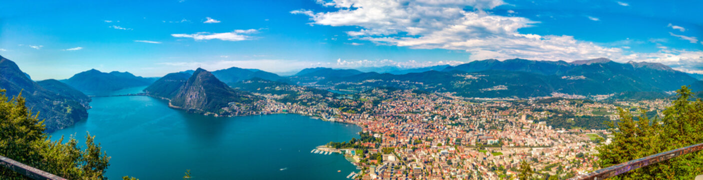 Lugano from above