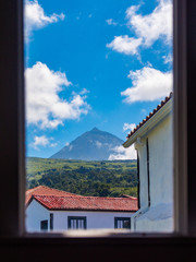 Mount Pico from the window of a hostel